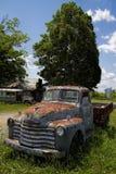 Antiker Weinlese-Klassiker Rusty Pickup Truck Stockfoto