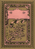 Antiker Weinlese-Tagebuch-Zeitschriften-Bucheinband Stockfoto