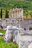Antikeruinen in Ephesus stockbilder