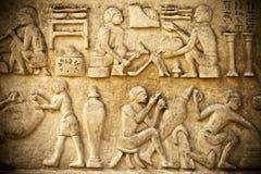 Antikes Ägypten Art Barble Background Lizenzfreies Stockbild