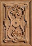 Antikes aufwändiges hölzernes Tür det Lizenzfreie Stockfotografie