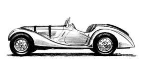 Antikes Auto des Two-seater Stockfotos