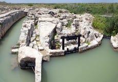 Antikes Bewässerungssystem in Israel Stockfotografie