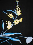 Antikes Blumengewebe lizenzfreie abbildung