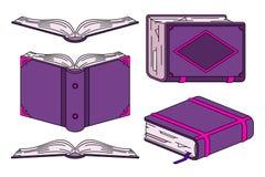 Antikes Buch in der verschiedenen perspektivischen Verkürzung Lizenzfreies Stockbild