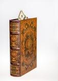 Antikes Buch mit hundert Dollarschein Stockbild