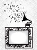 Antikes Feld und Grammophon Lizenzfreie Stockbilder