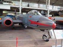 Antikes Flugzeug Brüssel des Kämpfers Gloster-Meteors M VIII Lizenzfreies Stockfoto