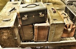 Antikes Gepäck Stockfoto