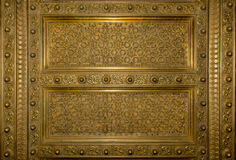 Antikes Gold plaed Holztürrahmen stockfoto