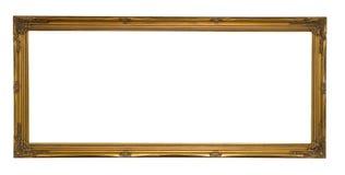 Antikes Goldpanoramischer Bilderrahmen stockfoto