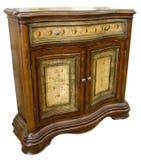 Antikes handgemaltes Kabinett Stockbild