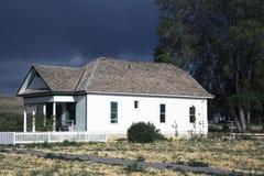Antikes Haus nahe Montrose, Colorado, USA Stockfotografie
