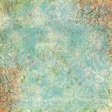 Antikes Hintergrundmit blumenthema der Weinlese Stockbild