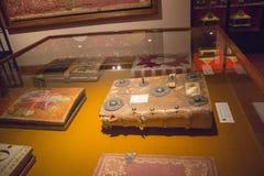 Antikes historisches Archiv von metropolitana Del Duomo, Siena, Italien Oper ` Museo-engen Tals Lizenzfreie Stockbilder