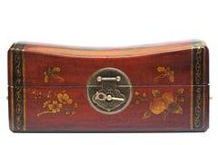 Antikes Kastenschließfach Stockfoto