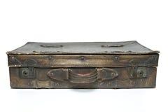 Antikes ledernes Gepäck Stockfotos