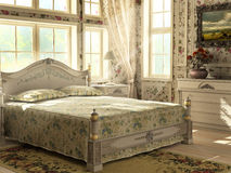 Antikes Luxuxschlafzimmer Stockbilder