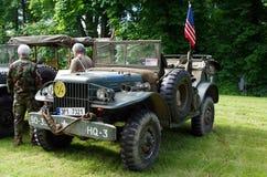 Antikes Militärauto Stockfotografie