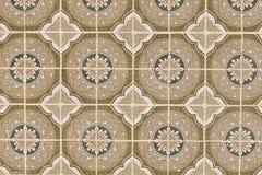 Antikes nahtloses portugiesisches Fliesen-Muster Stockbilder