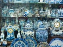 Antikes niederländisches traditionelles Porzellan Lizenzfreies Stockfoto