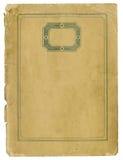Antikes Papier mit dekorativem Rahmen und heftigen Rändern Lizenzfreies Stockfoto