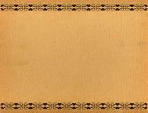 Antikes Papierfeld Stockfotografie