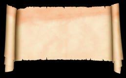 Antikes Pergament auf schwarzem Hintergrund Lizenzfreie Stockfotos