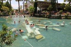 Antikes Pool in alter Stadt Hierapolis, die Türkei Stockbild