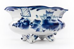 Antikes Porzellan, Porzellanfruchtvase. Stockbilder