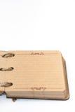 Antikes Retro- Tagebuch gesprungen mit Seil Stockfotografie