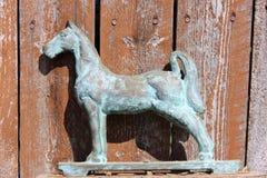 Antikes rustikales Pferd Stockfoto