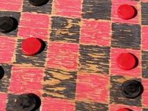 Antikes Schachbrett stockfoto