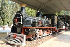 Antikes Schienenmaschine Schienen-Museum Lizenzfreies Stockfoto