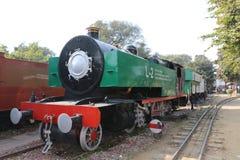 Antikes Schienenmaschine Schienen-Museum Stockfoto