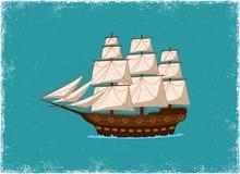 Antikes Schiff lizenzfreie abbildung