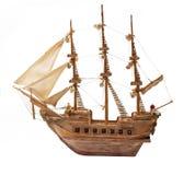 Antikes Schiff als hölzernes Modell Stockbilder
