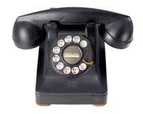 Antikes schwarzes Telefon Lizenzfreies Stockfoto