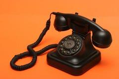 Antikes Telefon stockbilder