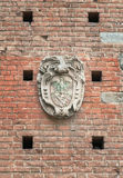 Antikes Wappen mit Adler Stockfotografie