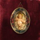 Antikes Weihnachtskarten-Schätzchen Jesus Lizenzfreie Stockfotografie