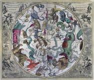 Antikisieren Sie Süd-Celestial Hemisphere von klassischem Lizenzfreie Stockfotografie