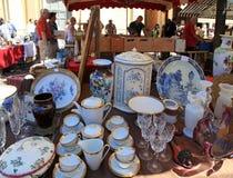 Antikmarkt das Cours Saleya, Nizza, Frankreich Lizenzfreies Stockfoto