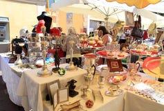 Antikmarkt in Nizza, Frankreich Stockfotos