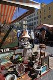 Antikmarkt in Nizza, Frankreich Lizenzfreies Stockbild
