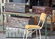 Antikt bagage Fotografering för Bildbyråer