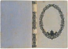 antikt bokomslag Arkivbild