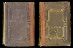 Antikt bokomslag för tappningdagboktidskrift Royaltyfria Foton