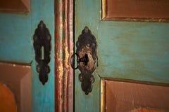 antikt dörrlås Arkivfoto