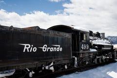 Antikt drev Rio Grande royaltyfria foton